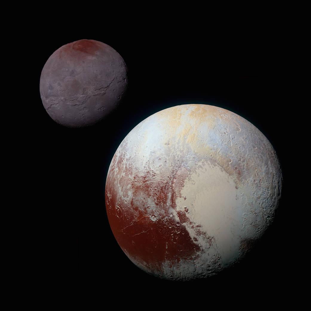 Plutone e Caronte a confronto