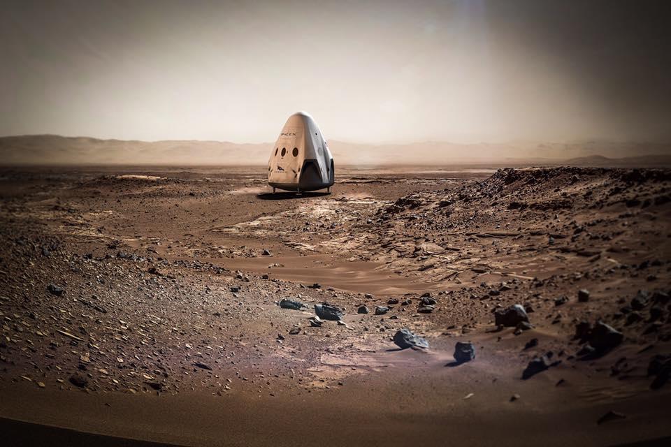 SpaceX su Marte nel 2018