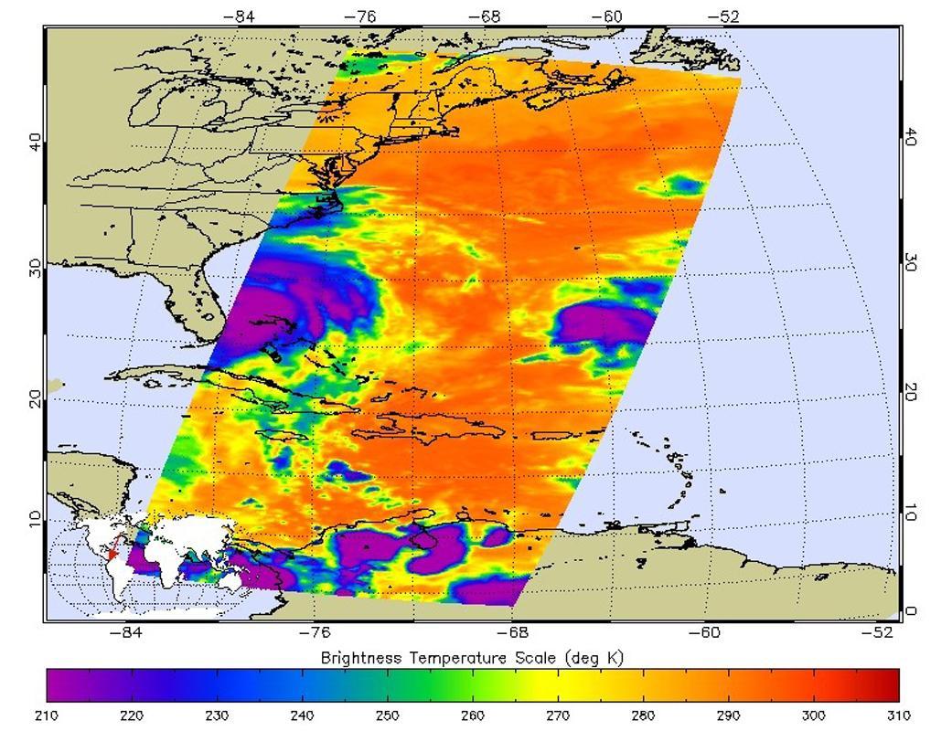 L'uragano Matthew dai satelliti della NASA