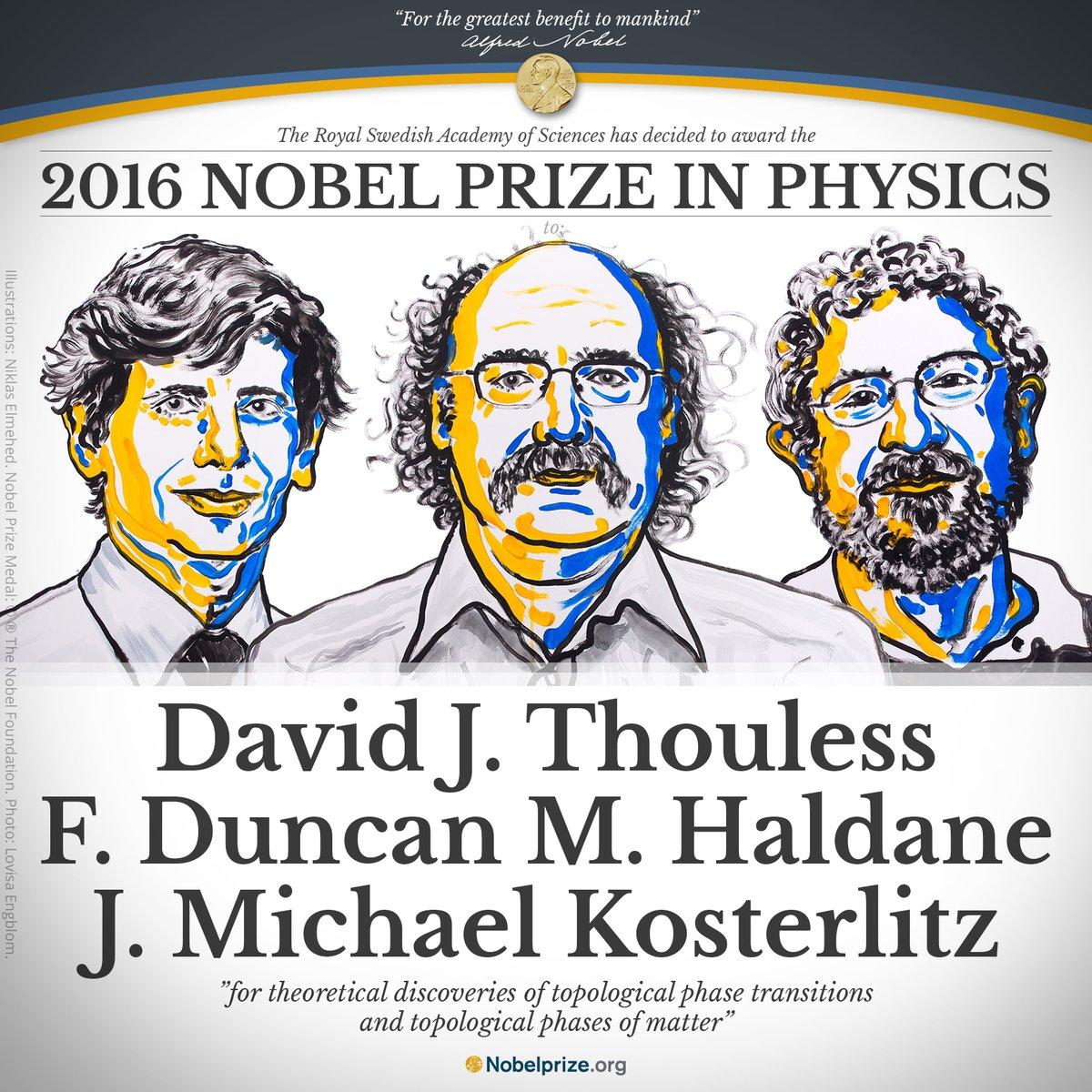 Il premio Nobel per la Fisica 2016