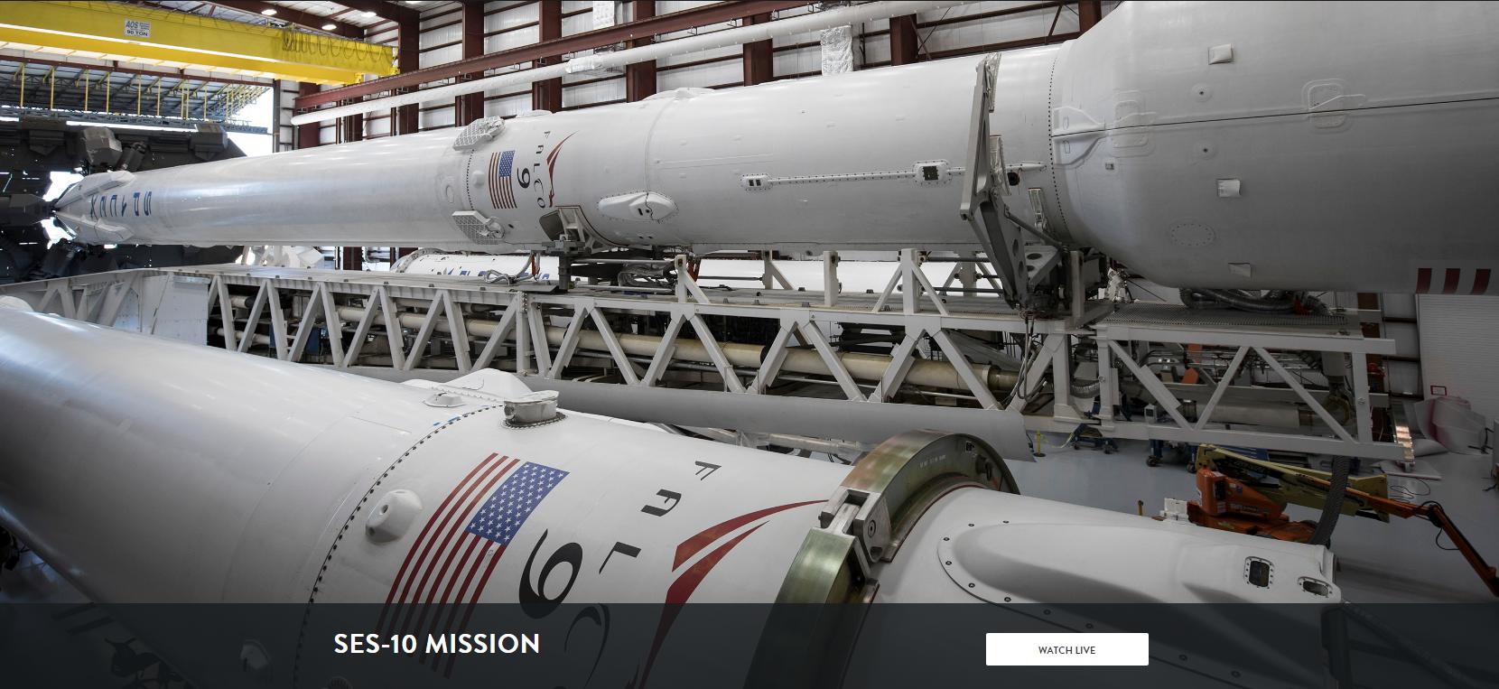 SpaceX: SES-10 Primo Lancio con un razzo riutilizzato