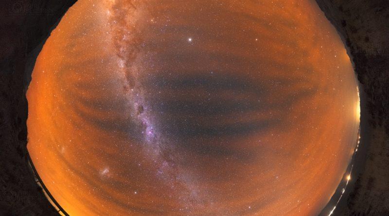 Via Lattea vs Airglow Australe