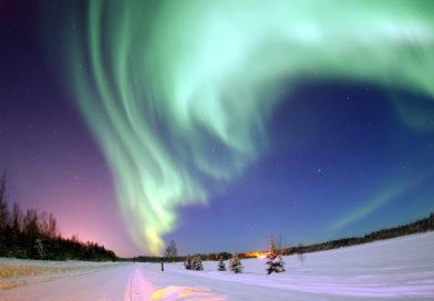 Aurora boreale in alaska